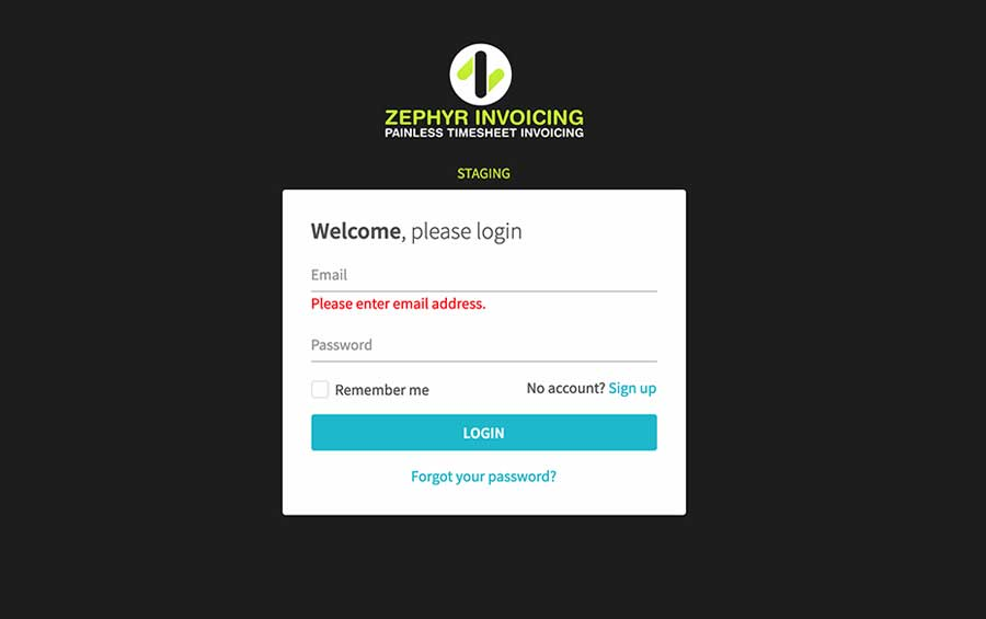 Zephyr Invoicing System